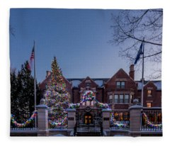 Christmas Lights Series #6 - Minnesota Governor's Mansion Fleece Blanket