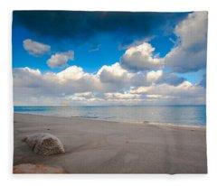 Minot Beach In Scituate Massachusetts  Fleece Blanket