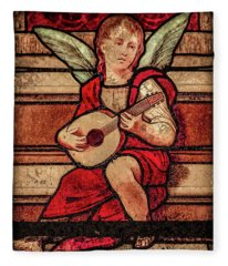 Paris, France - Minstrel Angel Fleece Blanket