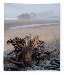 Minus Tide At Arch Cape Fleece Blanket