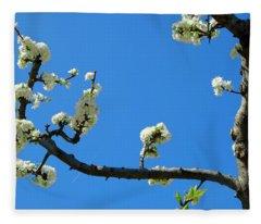 Mirabelle Blossoms Fleece Blanket