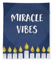 Miracle Vibes- Hanukkah Art By Linda Woods Fleece Blanket
