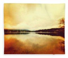 Mirror Lake At Sunset Fleece Blanket