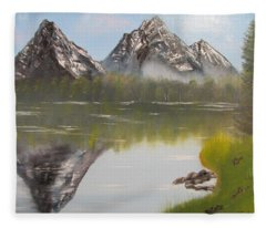 Mirror Mountain Fleece Blanket