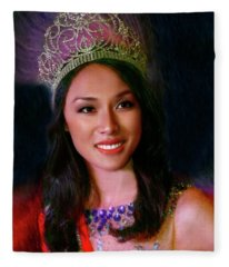 Miss Asian America 2016 Jessica Lim Fleece Blanket