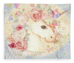 Miss Lolly Unicorn Fleece Blanket