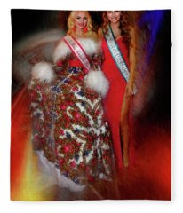 Miss Russian California 2016 And 17 Ulyana Zilbermints And Olga Sigmundson Full Lanth Fleece Blanket