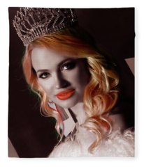 Miss Russian California 2016 Ulyana Zilbermints Fleece Blanket