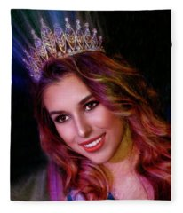Miss Russian California 2017 Olga Sigmundson Fleece Blanket