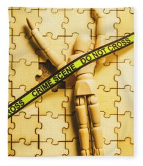 Missing Piece Of The Puzzle Fleece Blanket