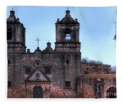 Mission Concepcion San Antonio Texas Fleece Blanket