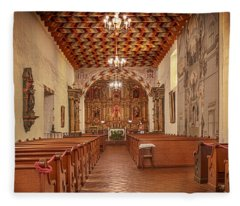 Mission San Francisco De Asis Interior Fleece Blanket