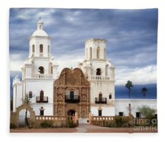 Mission San Xavier Del Bac Fleece Blanket