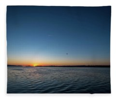 Mississippi River Sunrise Fleece Blanket
