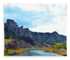 Missouri River Colors Fleece Blanket