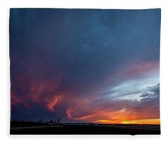 Missouri Sunset Fleece Blanket