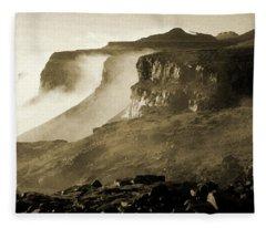 Mist In Lesotho Fleece Blanket