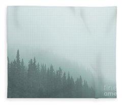 Mist On The Morning Hills Fleece Blanket
