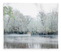 Mist On The River Fleece Blanket