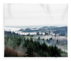 Mist Rising Fleece Blanket