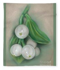 Mistletoe Berries Fleece Blanket