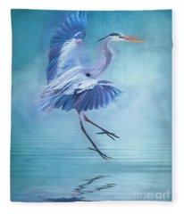 Misty Blue Fleece Blanket