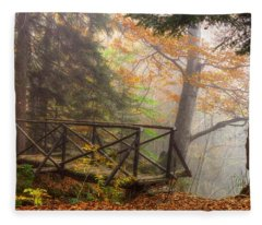 Misty Forest Fleece Blanket