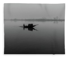 Fleece Blanket featuring the photograph Misty Morning On The Lower Ganges by Chris Cousins