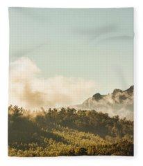 Misty Mountain Peaks Fleece Blanket