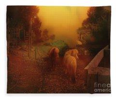 Misty Sundown Fleece Blanket