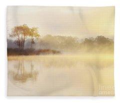 Misty Sunrise Loch Ard Fleece Blanket