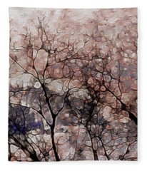 Misty Sunrise On Whidbey Island Fleece Blanket