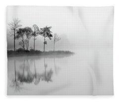Misty Trees - Loch Ard Fleece Blanket