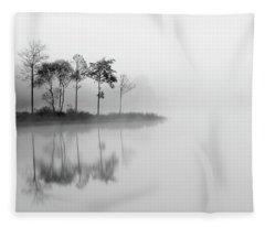 Misty Trees - Loch Ard Fleece Blanket
