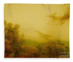 Misty Yellow Hue- El Valle De Anton Fleece Blanket