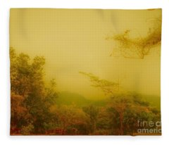 Misty Yellow Hue- El Valle De Anton Fleece Blanket