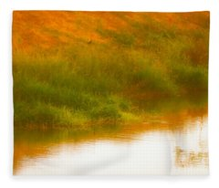 Misty Yellow Hue -lone Jacana Fleece Blanket