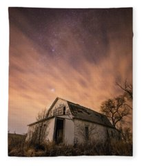Mitchell White Barn  Fleece Blanket