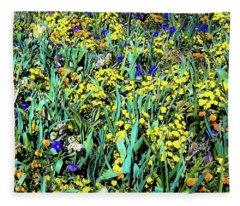 Mixed Flower Garden 515 Fleece Blanket
