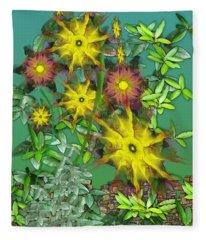 Mixed Flowers Fleece Blanket
