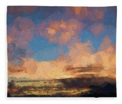 Moab Sunrise Abstract Painterly Fleece Blanket