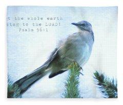 Mockingbird Scripture Fleece Blanket
