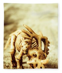 Model Styracosaurus Skeleton Fleece Blanket