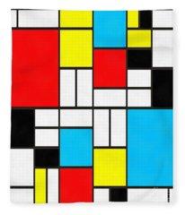 Modern Art Square Fleece Blanket
