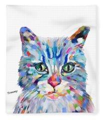 Modern Cat Fleece Blanket