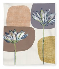 Modern Fall Floral 1- Art By Linda Woods Fleece Blanket