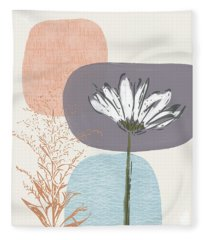 Modern Fall Floral 2- Art By Linda Woods Fleece Blanket