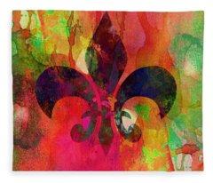 Modern Fleur De Lys Fleece Blanket
