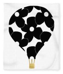 Modern Floral Hot Air Balloon- Art By Linda Woods Fleece Blanket