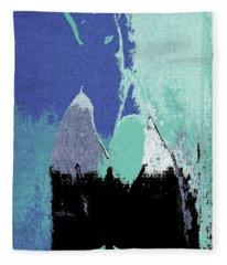 Abstract Portrait - 87t1dc7b Fleece Blanket